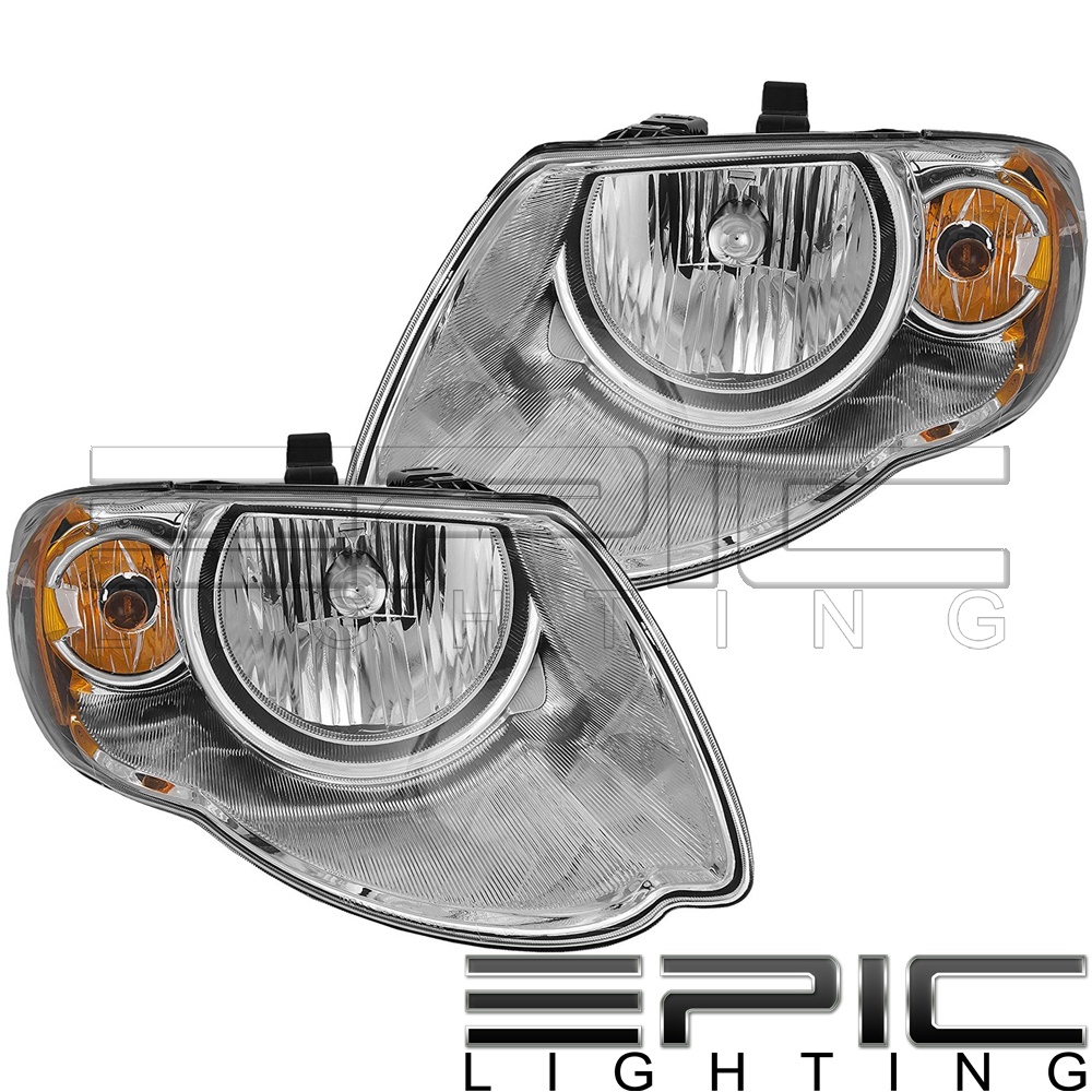 Pair Left /& right fog lights 2005 2006 2007 2008 2009 Chrysler Town and Country