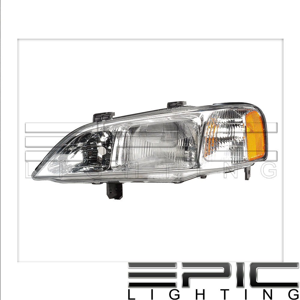 Fits 1999-01 Acura TL Headlights Headlamps Left Driver